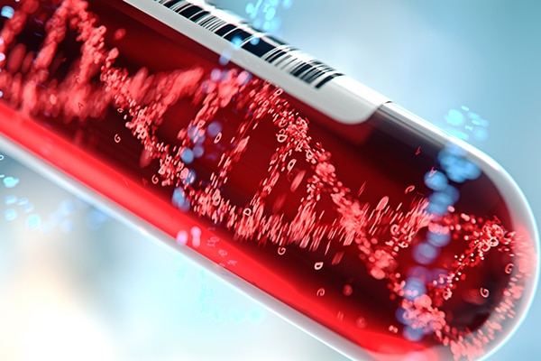 Liquid biopsy sample, DNA from a blood sample